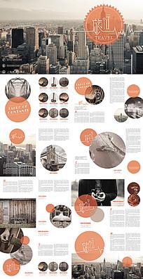 橙色企业产品宣传画册