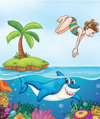 卡通海洋素材