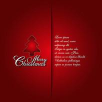 大红色时尚大气圣诞贺卡