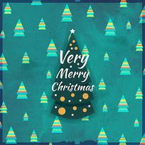 简约圣诞节贺卡