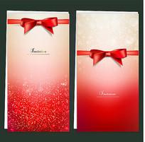 精美红色丝带贺卡
