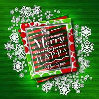 精美雪花圣诞节贺卡