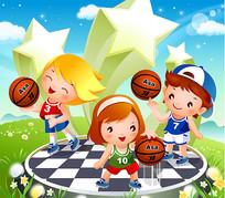 卡通儿童体育素材
