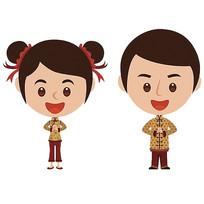 中国风拜年卡通人物