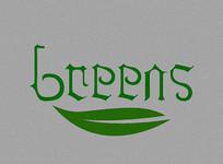 Greens英文字体设计