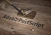 木质雕刻logo样机