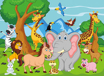 森林动物卡通素材
