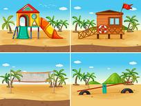 沙滩玩具素材