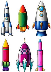 矢量火箭素材