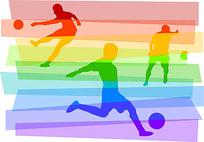 彩色足球运动