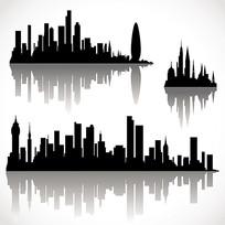 城市剪影素材