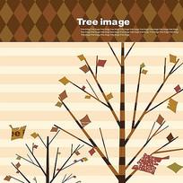 创意矢量小树插画