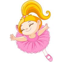 穿舞蹈服的小女孩
