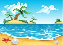 海岛沙滩素材