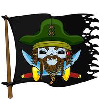 卡通海盗旗素材