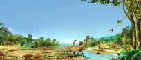 恐龙分层素材