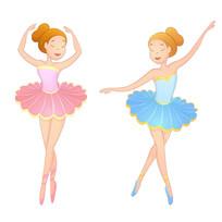 两个跳芭蕾舞的女孩