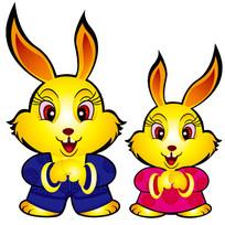 两只拜年的兔子