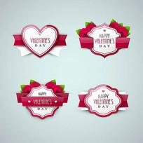 情人节 红色标签