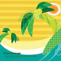 矢量椰子树插画
