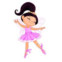 享受舞蹈的小女孩