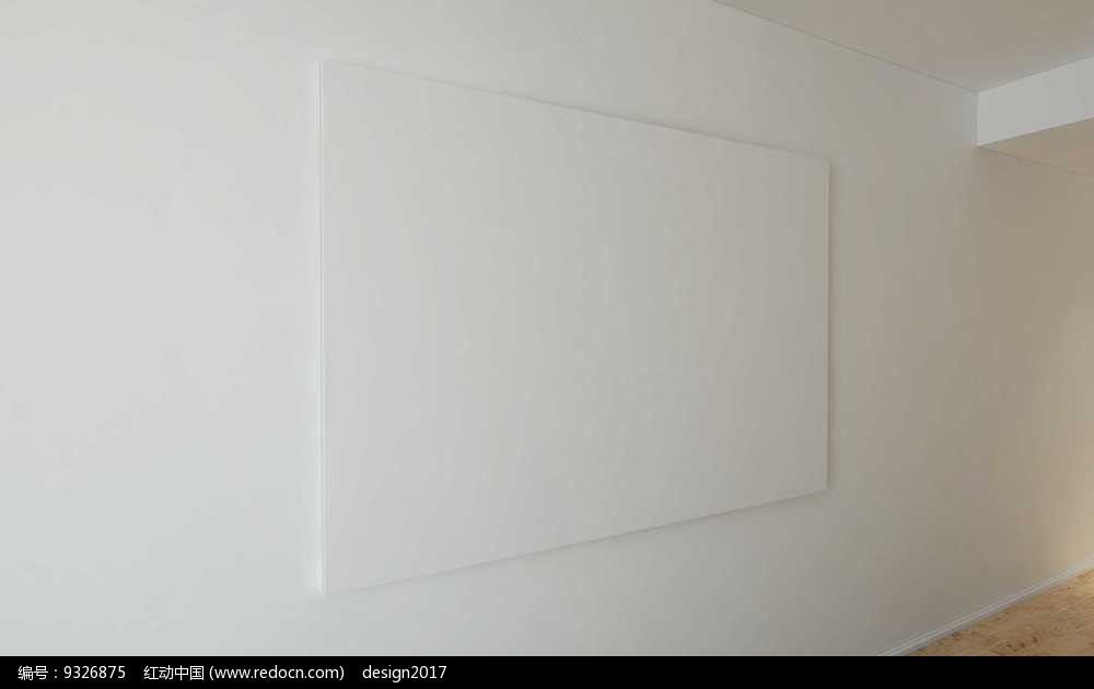 免费素材 psd素材 psd广告设计模板 其他 白色墙面矩形展示框展示样机