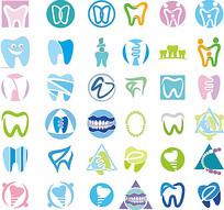 多个牙齿图标