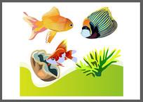 海底金鱼热带鱼水族箱