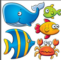 海洋鱼类卡通素材