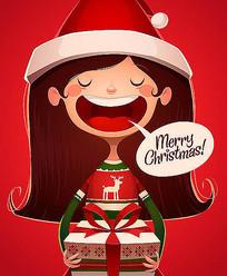 圣诞节绘画海报