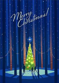圣诞树海报