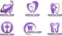 紫色牙齿图形