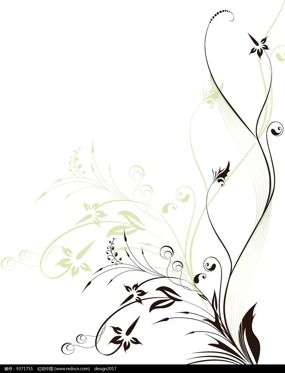植物花藤元素图案设计