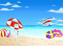 沙滩矢量素材