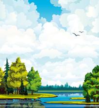 自然景观矢量素材