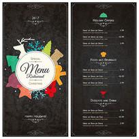 高档餐厅的菜单eps