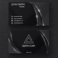黑色系品牌企业名片设计