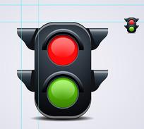 红绿灯矢量素材