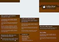 咖啡店宣传折页贴图模板