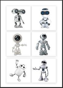 未来科技机器人素材