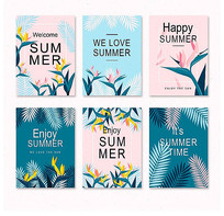 小清新夏季促销商业海报