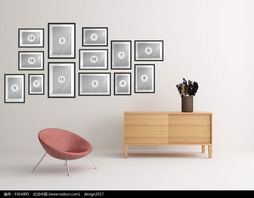 免费素材 psd素材 psd广告设计模板 其他 简单室内墙面装饰效果图psd