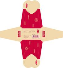 大气红色食品包装