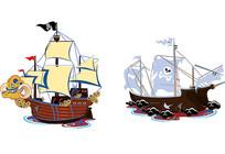 海盗船素材