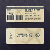飞机登记票矢量eps