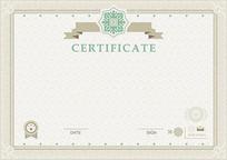 高档证书模板eps