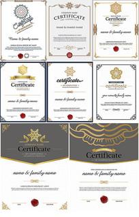 欧式证书花纹烫金质感eps