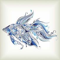 金鱼印花图案