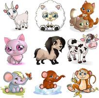 卡通动物素材