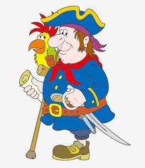 卡通海盗船长